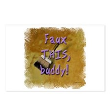 Faux THIS buddy! Postcards (Package of 8)