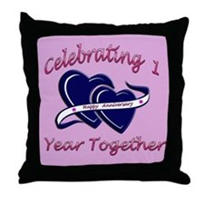 Unique 1st wedding anniversary Throw Pillow