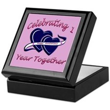 Unique 1st wedding anniversary Keepsake Box