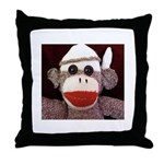 Ernie the Sock Monkey Throw Pillow