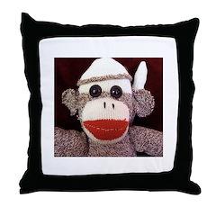 Ernie the Sock Monkey Throw Pillow