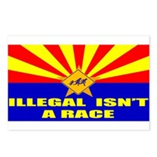 Illegal Isn't A Race Postcards (Package of 8)