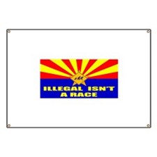 Illegal Isn't A Race Banner