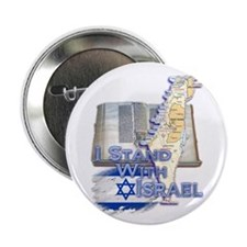 """I Stand With Israel - 2.25"""" Button"""