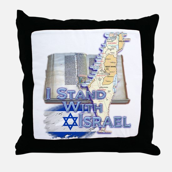I Stand With Israel - Throw Pillow
