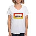 Hi-Way 39 Drive-In Theatre Women's V-Neck T-Shirt