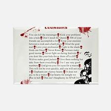 Cool Leonidas Life Lessons Rectangle Magnet