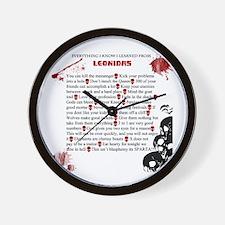 Cool Leonidas Life Lessons Wall Clock