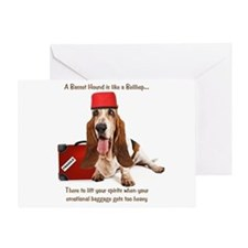Basset Hound Bellhop Greeting Card