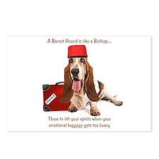 Basset Hound Bellhop Postcards (Package of 8)