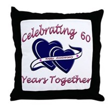 Unique 60th wedding anniversary Throw Pillow
