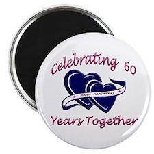 Cute 60th anniversary Magnet
