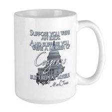 Mark Twain on Idiots in Congr Mug