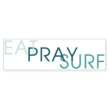 Eat Pray Surf - Sticker (Bumper)