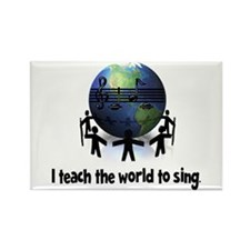 Teach the World to Sing Rectangle Magnet