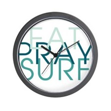Eat Pray Surf - Wall Clock