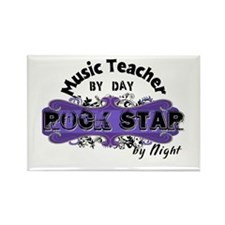Music Teacher by Day Rectangle Magnet