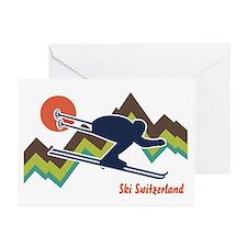Ski Switzerland Greeting Cards (Pk of 10)