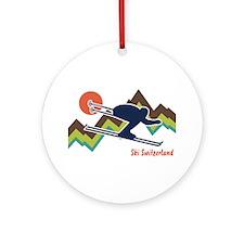 Ski Switzerland Ornament (Round)