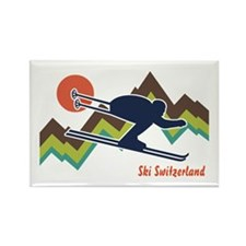 Ski Switzerland Rectangle Magnet