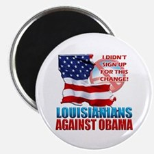 """Louisianians Against Obama 2.25"""" Magnet (100 pack)"""