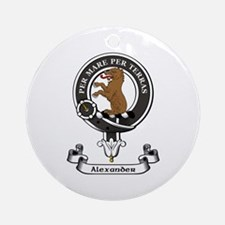 Badge-Alexander [Stirling] Round Ornament