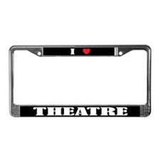 I (Heart) Theatre License Plate Frame
