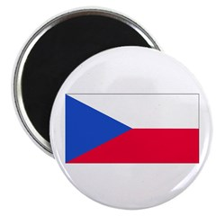Czechoslovakia Blank Flag Magnet
