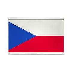 Czechoslovakia Blank Flag Rectangle Magnet (100 pa