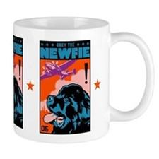 Obey the NEWFIE! Newfoundland Freedom Small Mugs