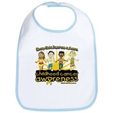EveryChild CancerRibbon Bib