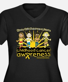 EveryChild CancerRibbon Women's Plus Size V-Neck D