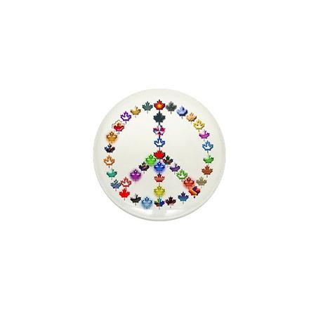 Maple Leaf Peace Sign Mini Button (10 pack)