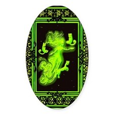 Absinth Fairy Freya with cats green Decal