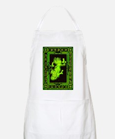 Absinth Fairy Freya with cats green Apron