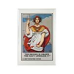 Navy Recruiting Sword Poster Art Rectangle Magnet