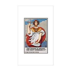 Navy Recruiting Sword Poster Art Sticker (Rectangu