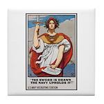 Navy Recruiting Sword Poster Art Tile Coaster