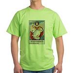 Navy Recruiting Sword (Front) Green T-Shirt