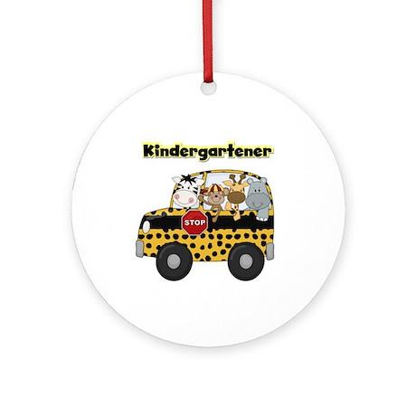 Zoo Animals Kindergarten Ornament (Round)
