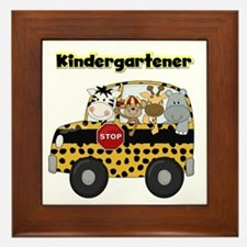 Zoo Animals Kindergarten Framed Tile
