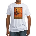 Liberty Shall Not Perish (Front) Fitted T-Shirt