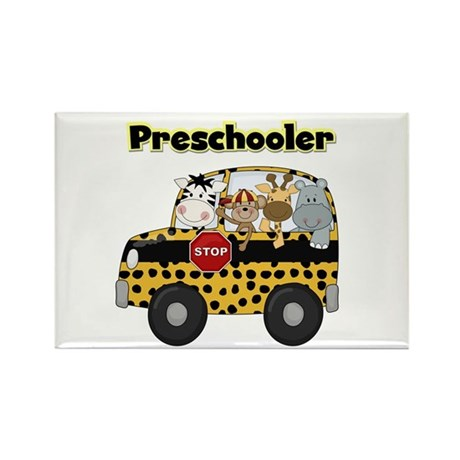 Zoo Animals Preschool Rectangle Magnet (10 pack)