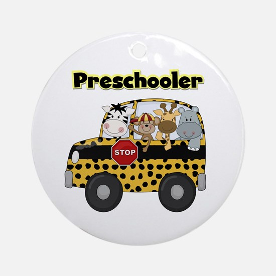Zoo Animals Preschool Ornament (Round)