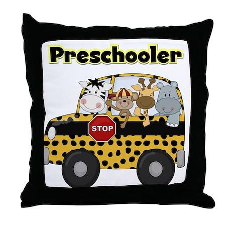 Zoo Animals Preschool Throw Pillow