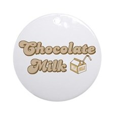 Chocolate Milk Ornament (Round)