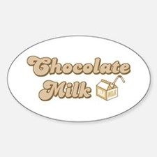 Chocolate Milk Oval Decal