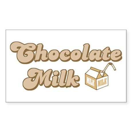 Chocolate Milk Rectangle Sticker