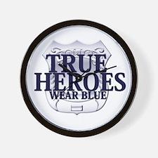 Police: True Heroes Wall Clock