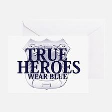 Police: True Heroes Greeting Card